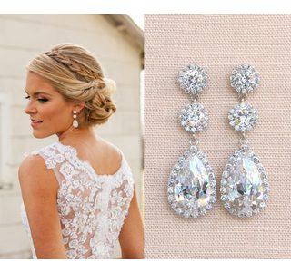 kolczyki ślubne - biżuteria