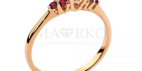 pierścionek z różowego złota