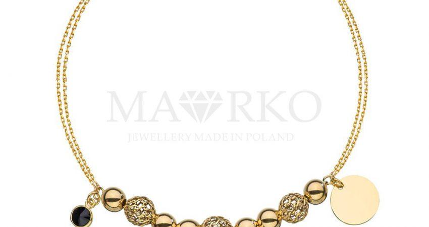 złota bransoletka charms zawieszki